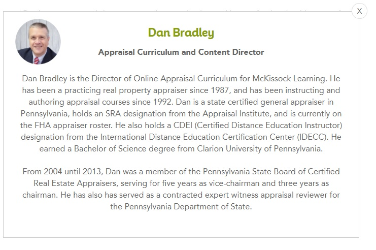 Biography of McKissock Instructor, Dan Bradley
