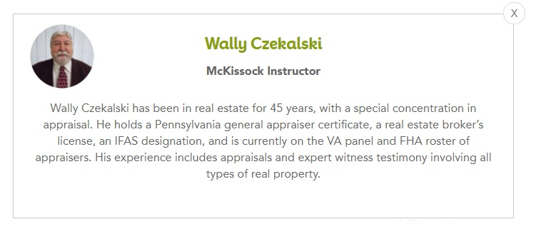 Biography of McKissock Instructor, Wally Czekalski