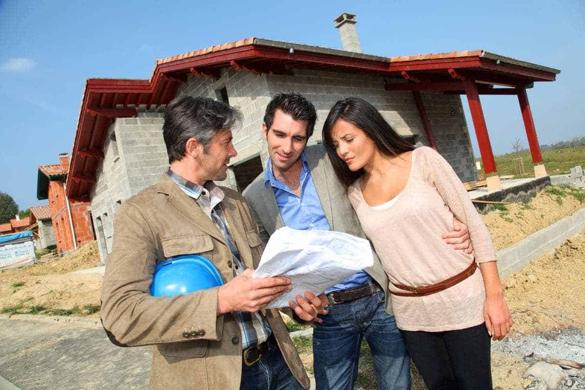 real estate professionals with clients