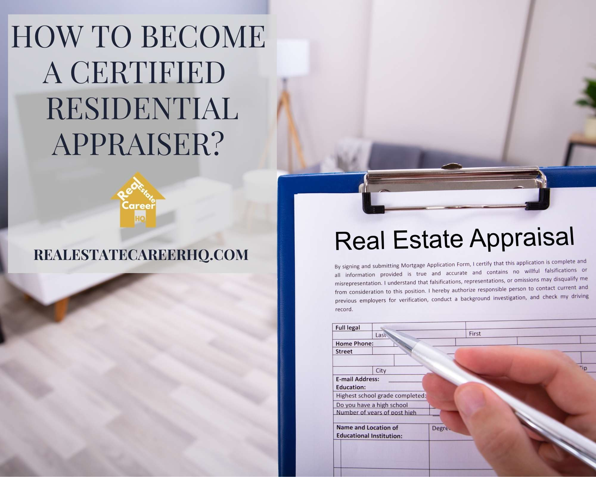 What is a Certified Residential Appraiser?