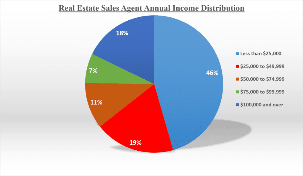 Real Estate Agents Annual Salary Distribution