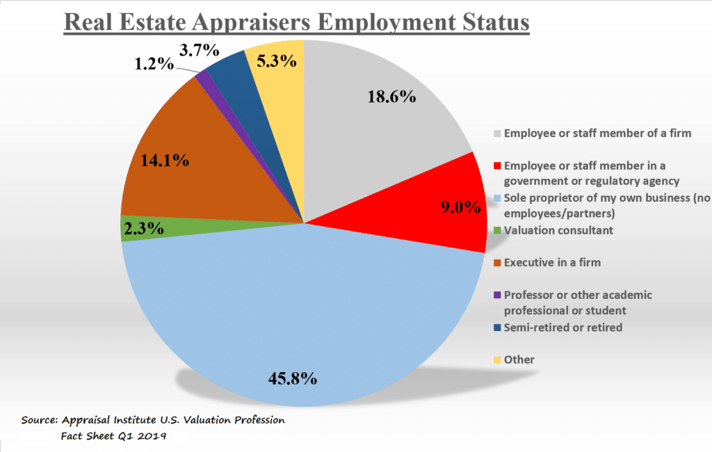 Real Estate Appraisers Employment Status