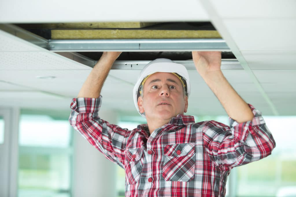 home inspector inspecting property
