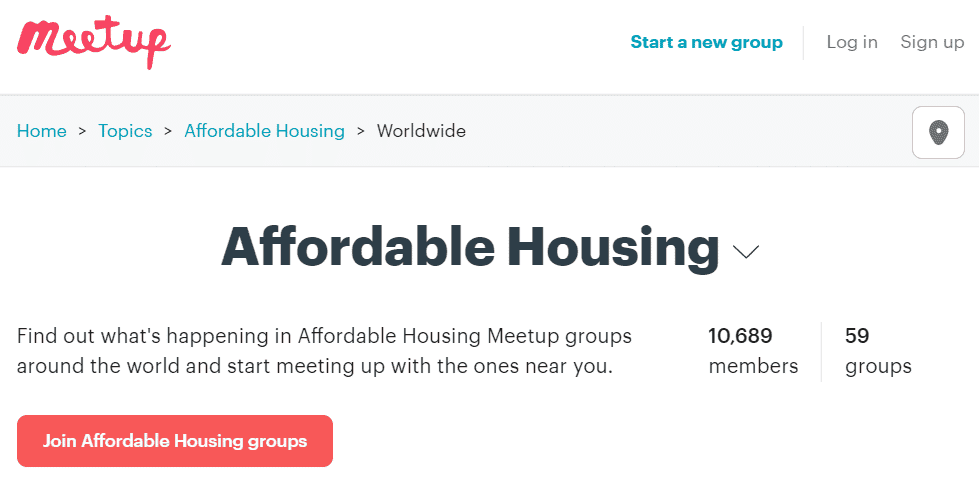 Affordable Housing Meetup Group
