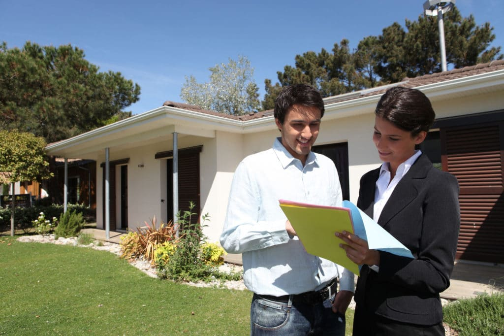 Real estate agent reading industry updates in Indiana