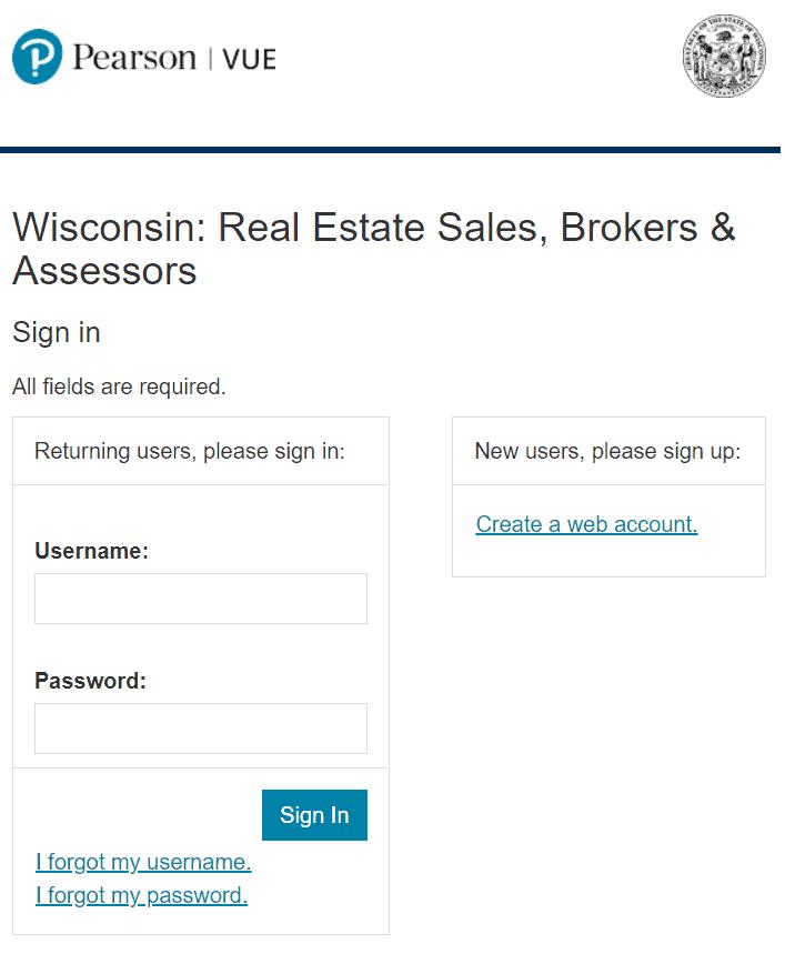 Wisconsin real estate exam registration