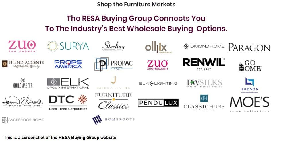 RESA Buying Group List of Vendors