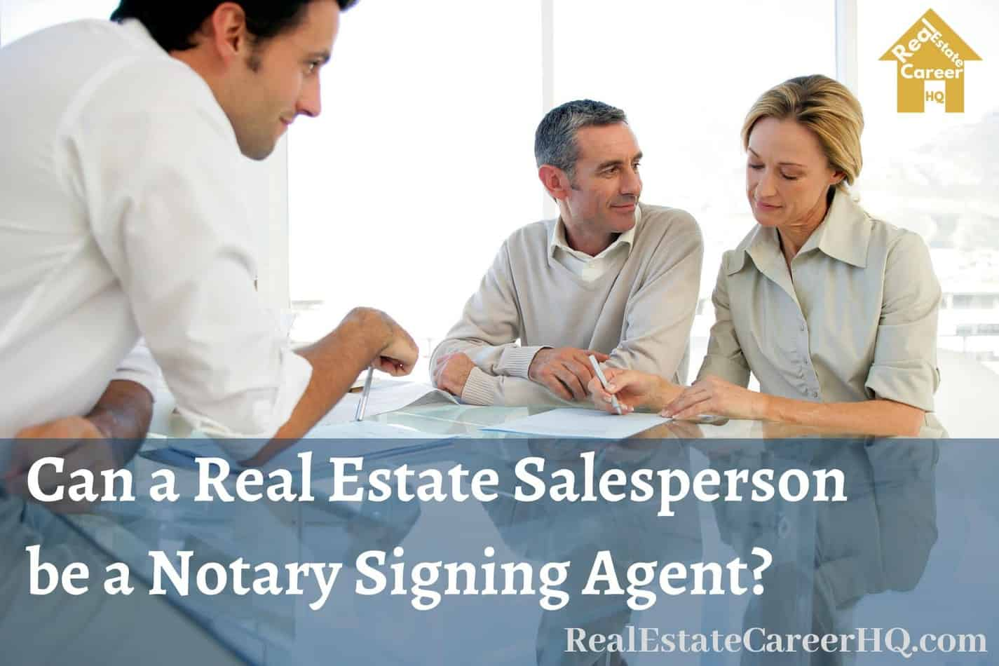Real estate notary signing
