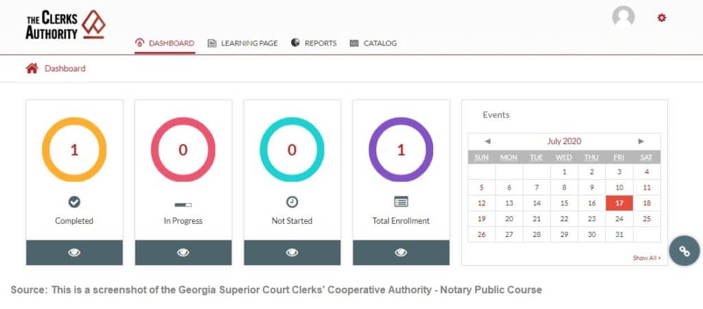 Georgia Superior Court Clerk's Cooperative Authority Notary Public Course