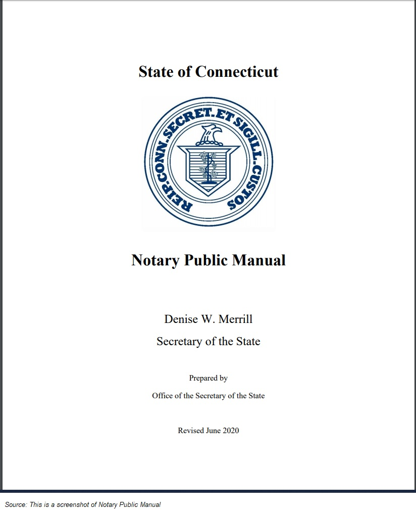 Connecticut Notary Public Manual