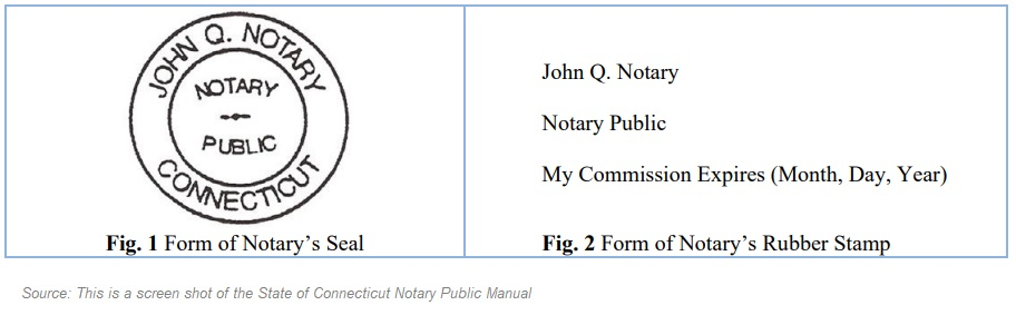 Connecticut Notary Seal Samples