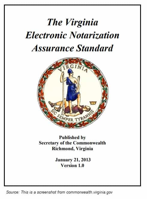 The Virginia Electronic Notarization Assurance Standard