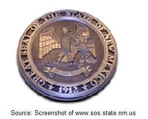 New Mexico Notary Embosser Sample