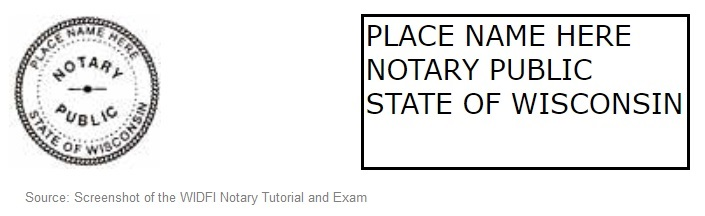Wisconsin notary seal sample