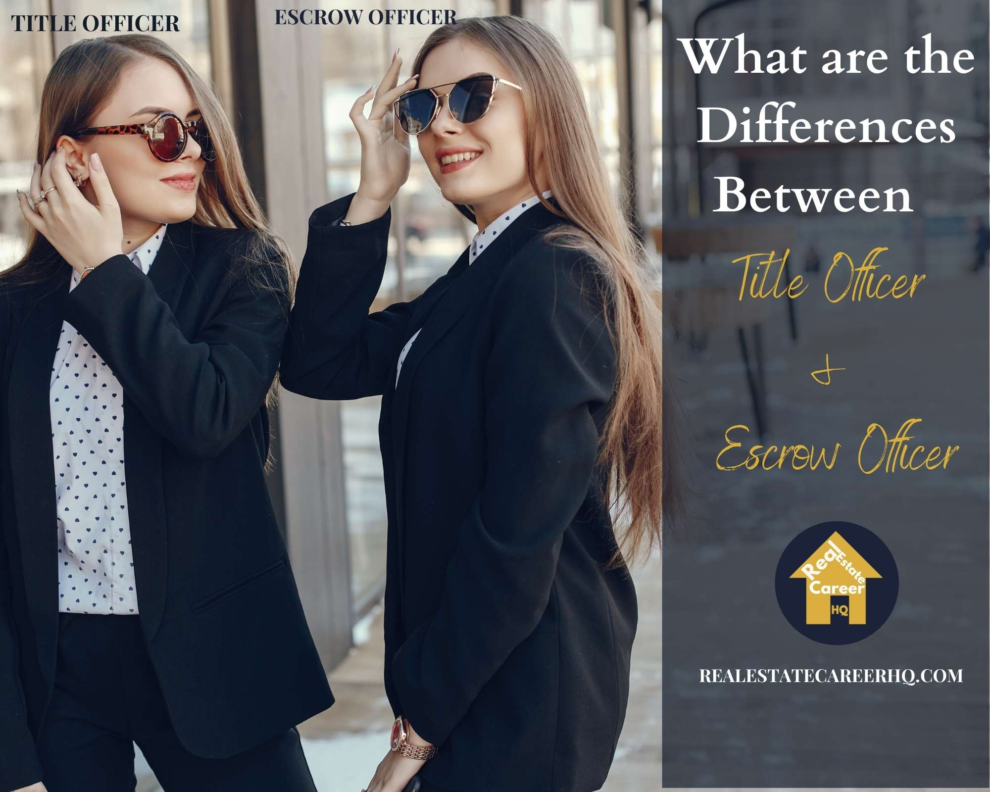 Differences between a title officer and an escrow officer