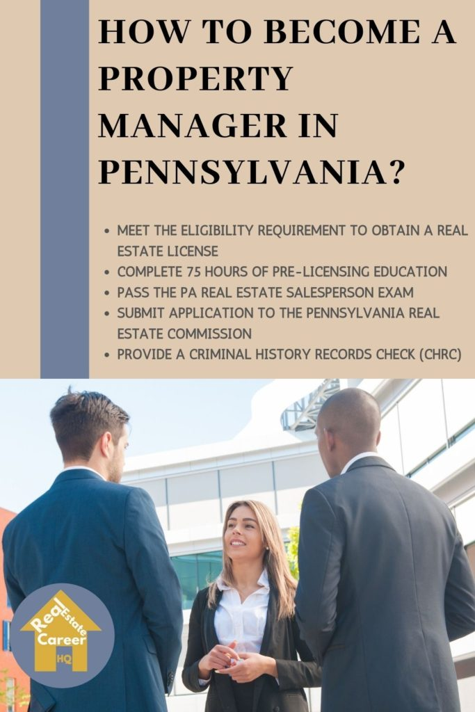 Requirement to to Become a property manager in Pennsylvania