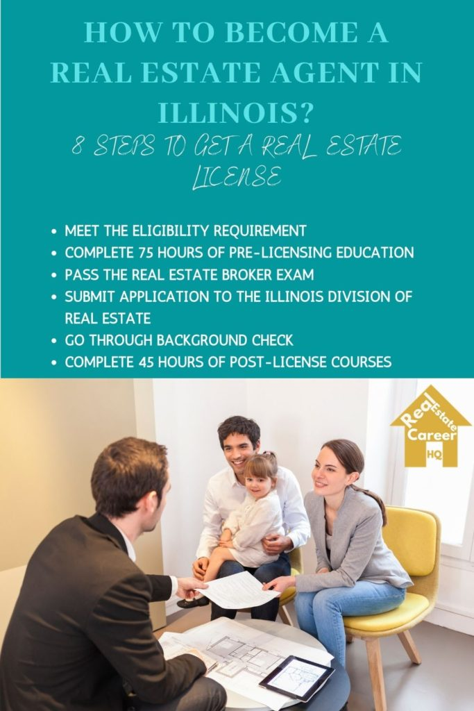 Requirement to get a real estate broker license in Illinois