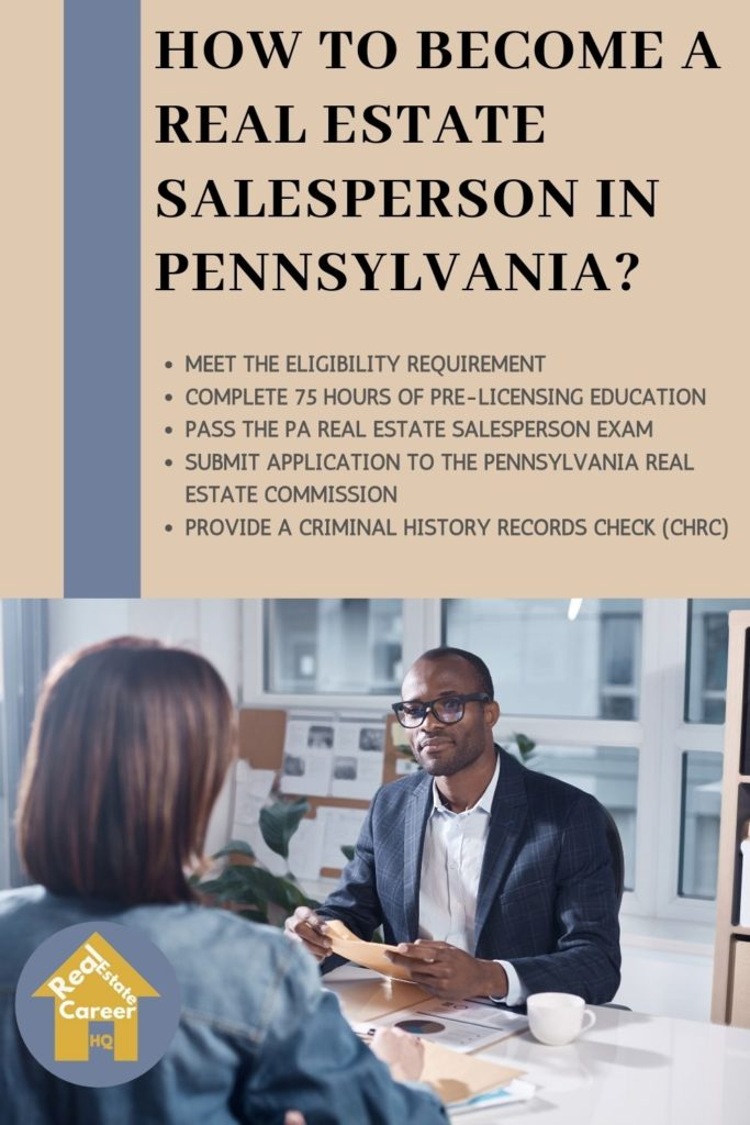 Requirement to to Become a Real Estate Agent in Pennsylvania