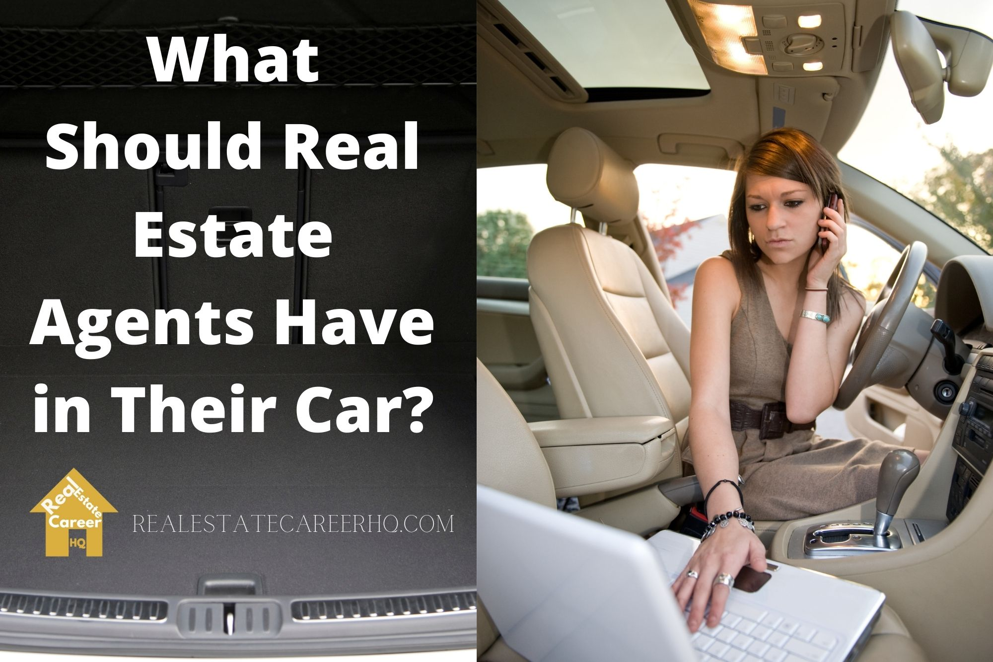 real estate agent car items