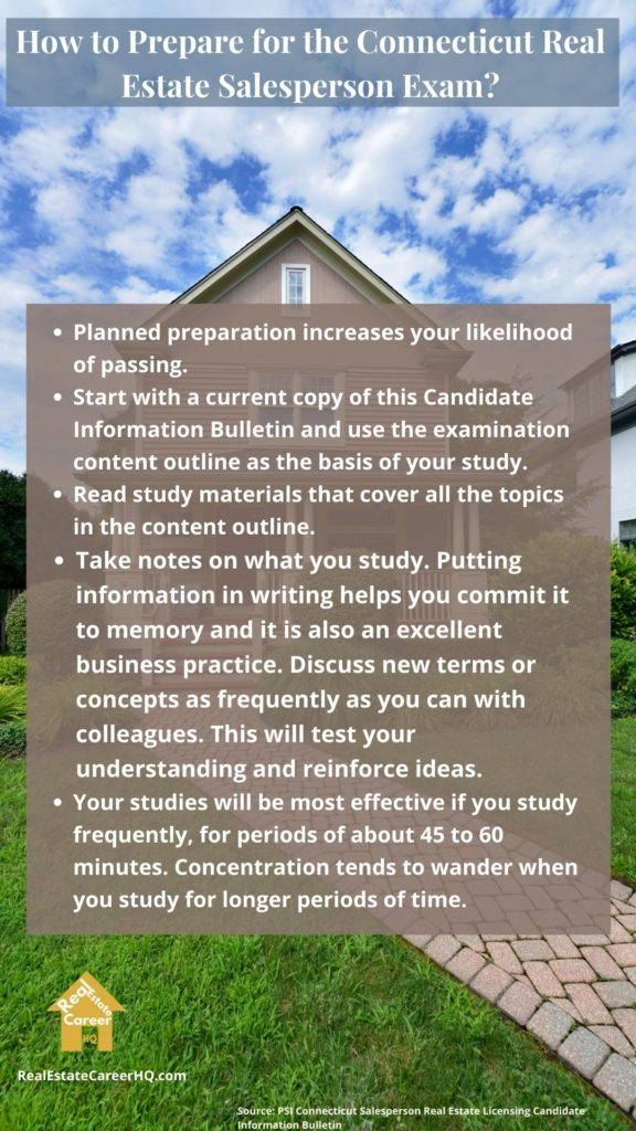 Connecticut real estate exam tips