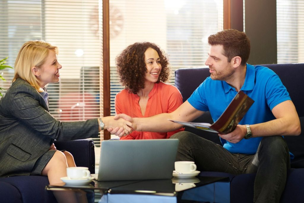 property manager meeting clients